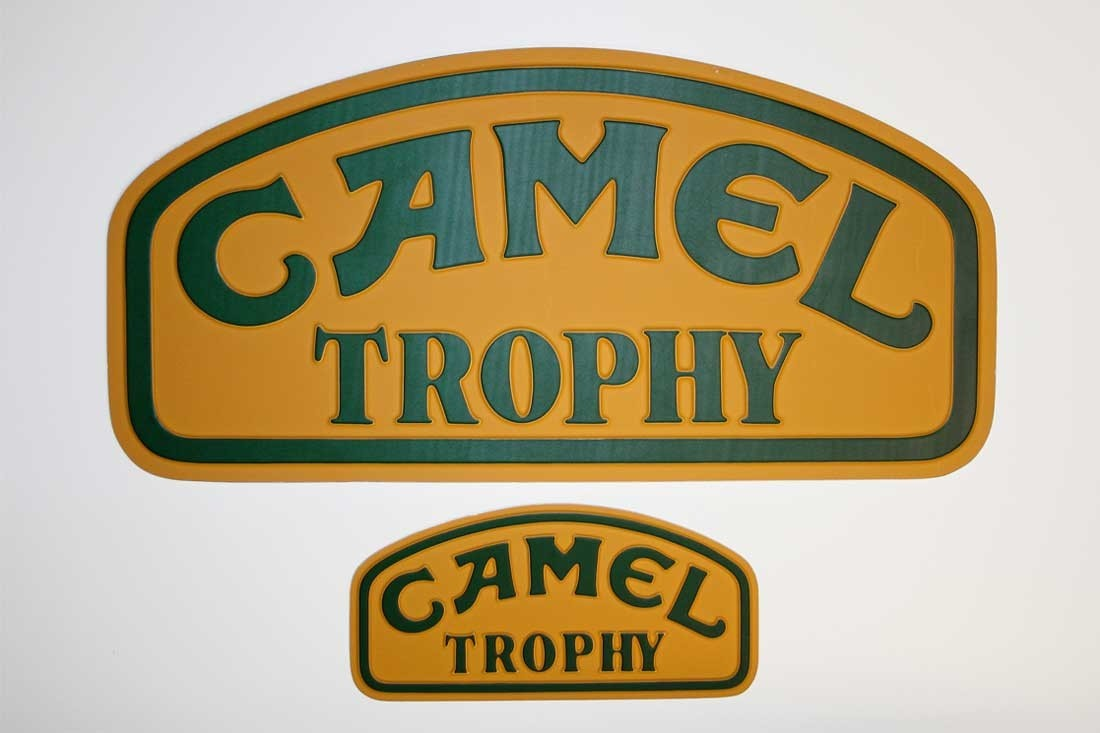 Camel Trophy Plaque Embossed Backed Aluminum Original