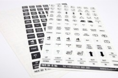 Carling Switch Legend Decals (black/clear, white/clear, or clear/black)