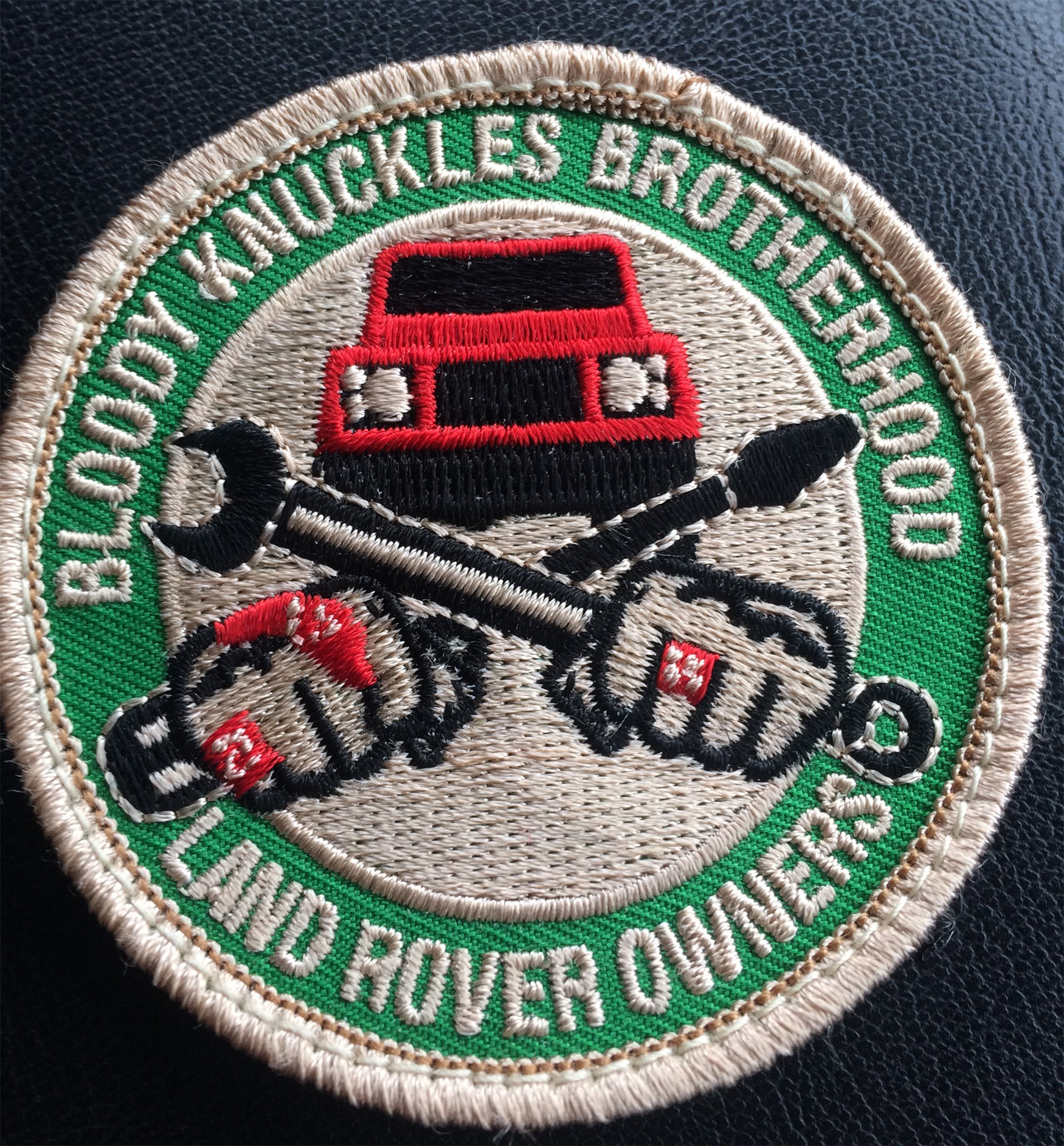 """""""Bloody Knuckles Brotherhood"""" PATCH velcro-backed, 2-5/8"""""""