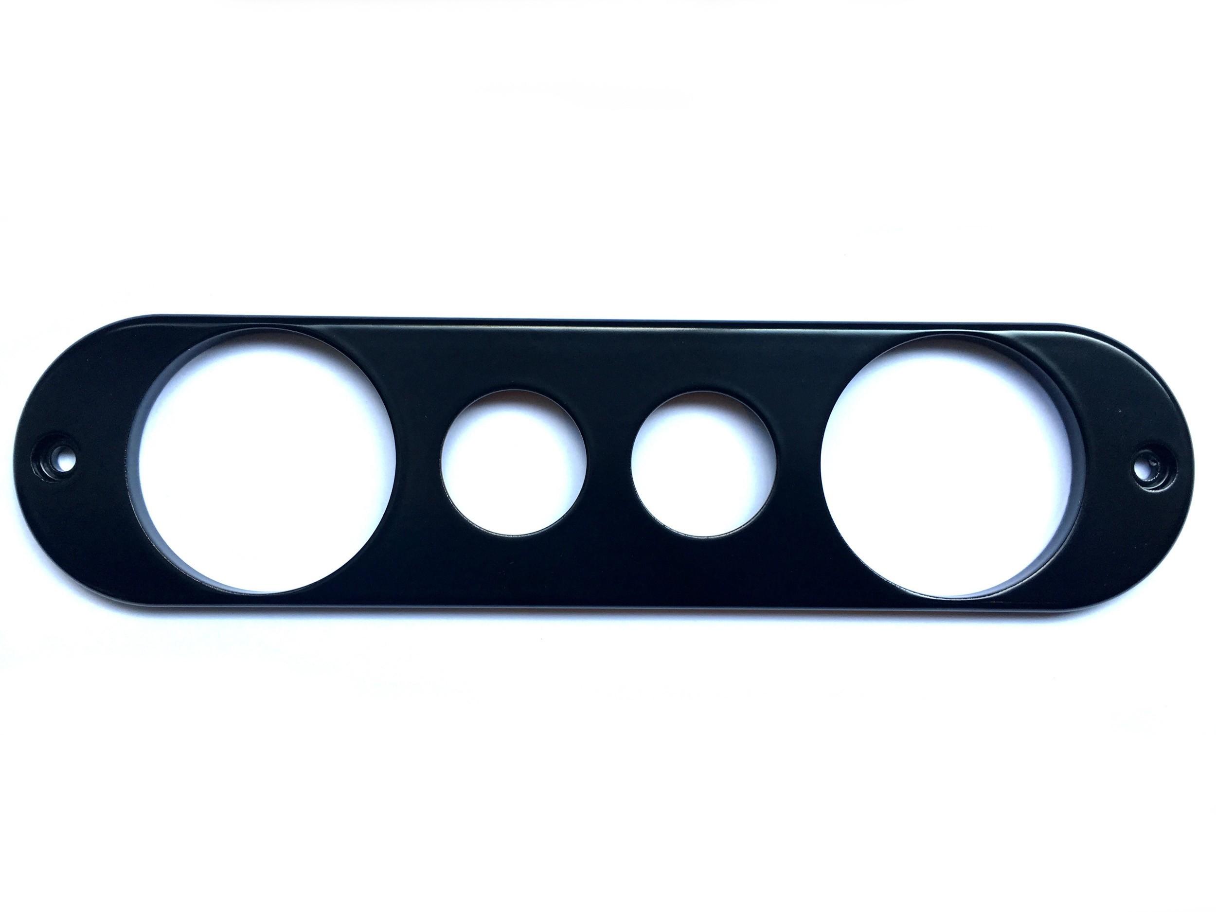 Dash Center Face Plate Panel (VDO-2x 12v-VDO)