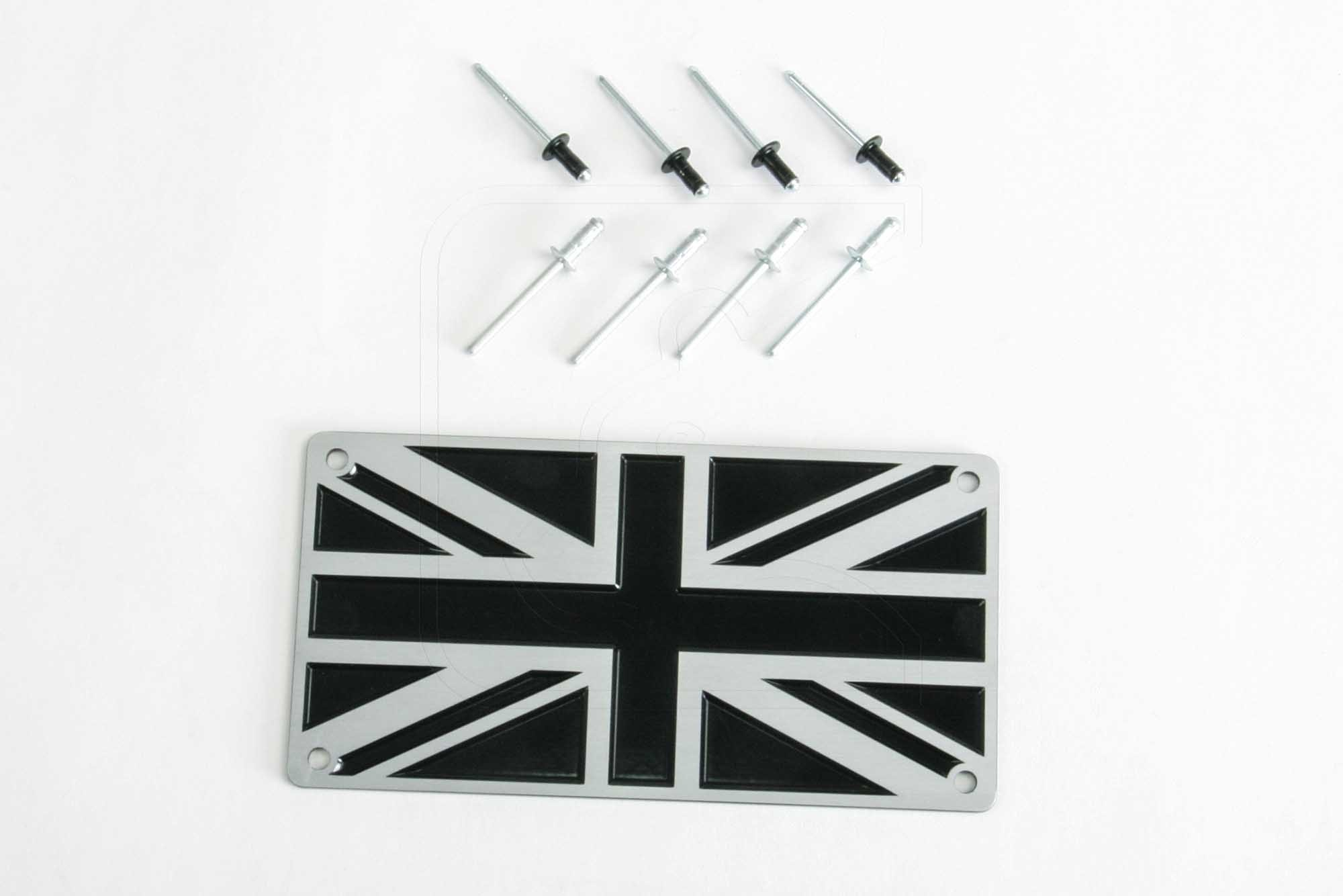 Union Jack plaque (solid aluminum)