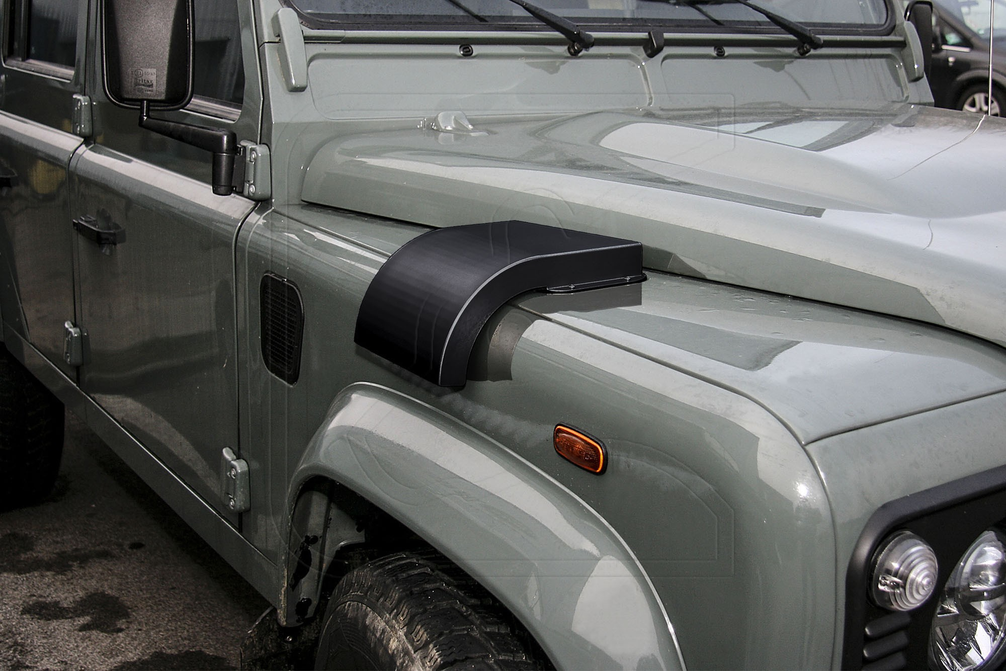 Defender Military Snow Cowl Cover - Stainless Steel