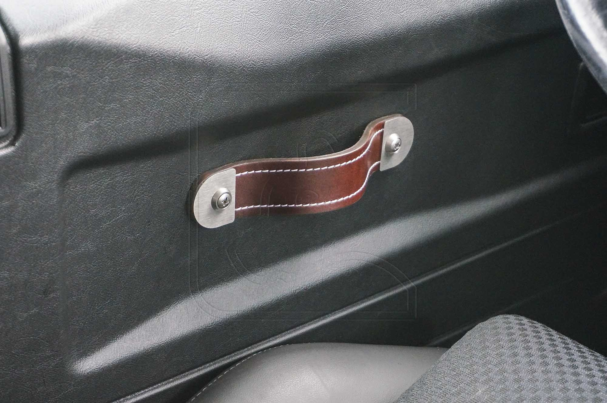 PREMIUM Interior Leather Door Pull/Grab Handles (set of 2) for Land Rover Defender
