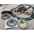 """""""Bloody Knuckles Brotherhood"""" PACKAGE DEAL - Badge, Patch, Sticker, T-Shirt & Hat"""