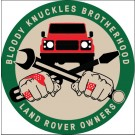 """Bloody Knuckles Brotherhood"" STICKER/DECAL Round 2.5-inch"