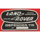 """Land Rover 110"" Oval Badge (Cast Aluminum)"