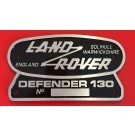 """Land Rover 130"" Oval Badge (Cast Aluminum)"