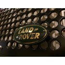 "Aluminum Grille Badge Mount (Bolt-On with ""Land Rover"" green & gold emblem)"