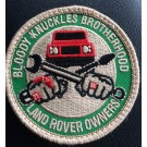 """Bloody Knuckles Brotherhood"" PATCH velcro-backed, 2-5/8"""