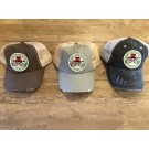 """""""Bloody Knuckles Brotherhood"""" Distressed Mesh Back Hat with removable velcro-Patch"""