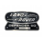 """Land Rover 90"" Oval Badge (Cast Aluminum)"