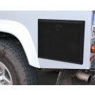 Side storage locker/box for Land Rover Defender 110 (stainless steel & black powdercoated - fits back left of vehicle)