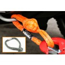 "Soft Shackle 10mm (7/16"") - 12,000kg (26,000lb) break strength [recovery, synthetic shackle]-Orange"