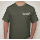 Adult T-Shirt: Military Green-X-Large