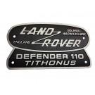 """Land Rover Tithonus"" Oval Badge (Cast Aluminum)"