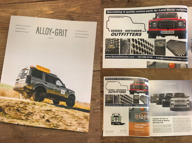 SDO Advertisement in Alloy+Grit - Spring 2017