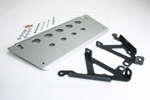 Land Rover Defender -Aluminum Steering Guard / Skid Plate and Mounting Brackets